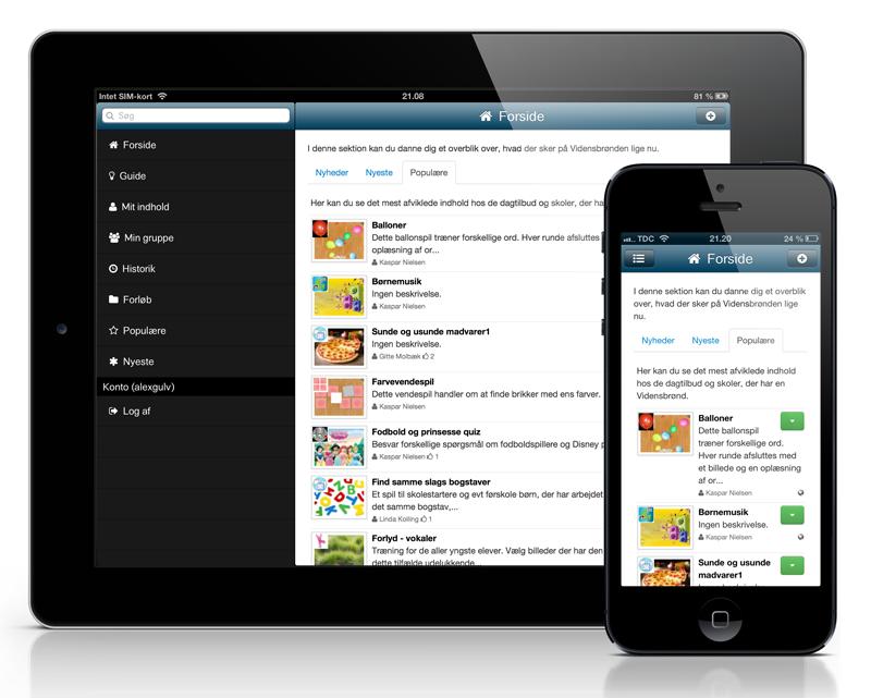 de3a65ee Det primære formål med app'en er, at det skal være nemt at lave nyt indhold  i de tilgængelige apps til Vidensbrønden. Det er f.eks. muligt at lave et  ...