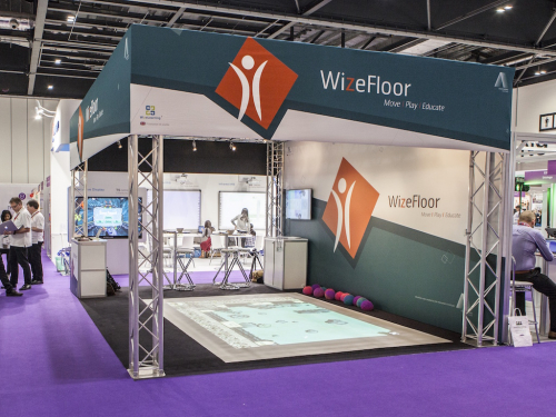 The WizeFloor stand